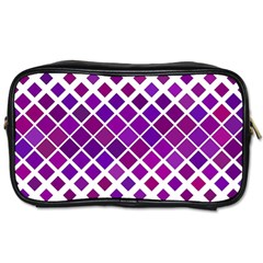 Pattern Square Purple Horizontal Toiletries Bags 2 Side