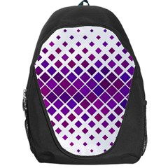 Pattern Square Purple Horizontal Backpack Bag
