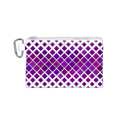 Pattern Square Purple Horizontal Canvas Cosmetic Bag (s)