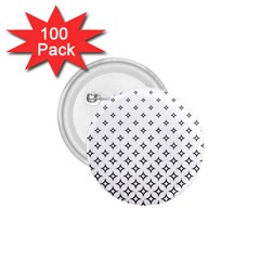 Star Pattern Decoration Geometric 1 75  Buttons (100 Pack)
