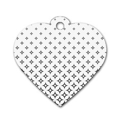 Star Pattern Decoration Geometric Dog Tag Heart (two Sides)