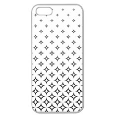 Star Pattern Decoration Geometric Apple Seamless Iphone 5 Case (clear)