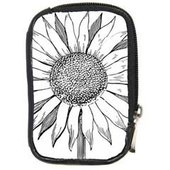 Sunflower Flower Line Art Summer Compact Camera Cases