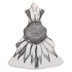 Sunflower Flower Line Art Summer Christmas Tree Ornament (two Sides)