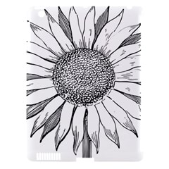 Sunflower Flower Line Art Summer Apple Ipad 3/4 Hardshell Case (compatible With Smart Cover)