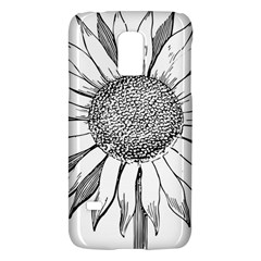 Sunflower Flower Line Art Summer Galaxy S5 Mini