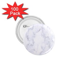 Marble Texture White Pattern 1 75  Buttons (100 Pack)