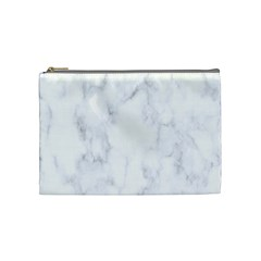 Marble Texture White Pattern Cosmetic Bag (medium)