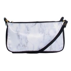 Marble Texture White Pattern Shoulder Clutch Bags