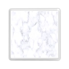 Marble Texture White Pattern Memory Card Reader (square)