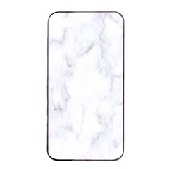 Marble Texture White Pattern Apple Iphone 4/4s Seamless Case (black)