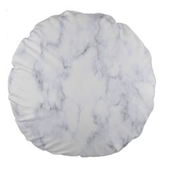 Marble Texture White Pattern Large 18  Premium Round Cushions