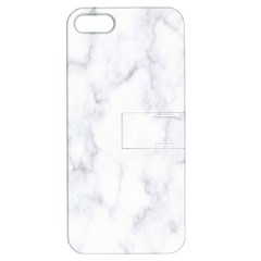 Marble Texture White Pattern Apple Iphone 5 Hardshell Case With Stand