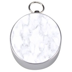 Marble Texture White Pattern Silver Compasses
