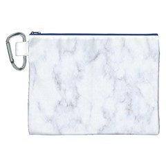 Marble Texture White Pattern Canvas Cosmetic Bag (xxl)