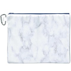 Marble Texture White Pattern Canvas Cosmetic Bag (xxxl)