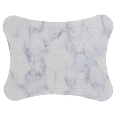 Marble Texture White Pattern Jigsaw Puzzle Photo Stand (bow)