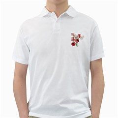 Flowers Poppies Poppy Vintage Golf Shirts
