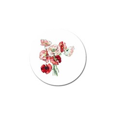 Flowers Poppies Poppy Vintage Golf Ball Marker (4 Pack)