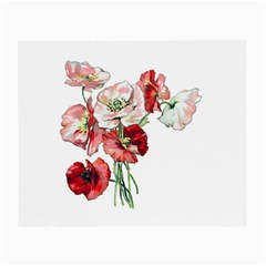 Flowers Poppies Poppy Vintage Small Glasses Cloth