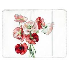 Flowers Poppies Poppy Vintage Samsung Galaxy Tab 7  P1000 Flip Case