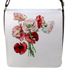 Flowers Poppies Poppy Vintage Flap Messenger Bag (s)