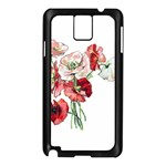 Flowers Poppies Poppy Vintage Samsung Galaxy Note 3 N9005 Case (Black) Front