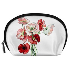 Flowers Poppies Poppy Vintage Accessory Pouches (large)
