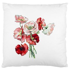 Flowers Poppies Poppy Vintage Standard Flano Cushion Case (two Sides)