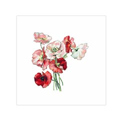 Flowers Poppies Poppy Vintage Small Satin Scarf (square)