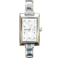 White Background Pattern Tile Rectangle Italian Charm Watch