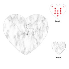 White Background Pattern Tile Playing Cards (heart)