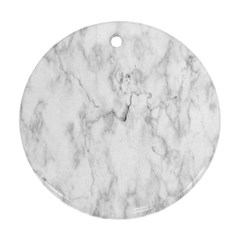 White Background Pattern Tile Round Ornament (two Sides)