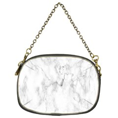 White Background Pattern Tile Chain Purses (one Side)