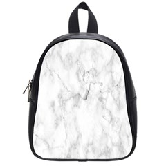 White Background Pattern Tile School Bag (small)