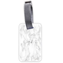 White Background Pattern Tile Luggage Tags (one Side)
