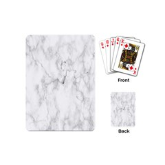 White Background Pattern Tile Playing Cards (mini)