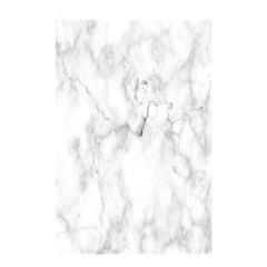 White Background Pattern Tile Shower Curtain 48  X 72  (small)