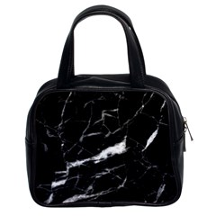 Black Texture Background Stone Classic Handbags (2 Sides)