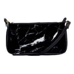 Black Texture Background Stone Shoulder Clutch Bags