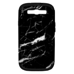 Black Texture Background Stone Samsung Galaxy S Iii Hardshell Case (pc+silicone)