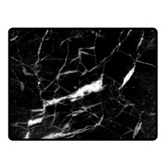 Black Texture Background Stone Double Sided Fleece Blanket (small)