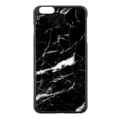 Black Texture Background Stone Apple Iphone 6 Plus/6s Plus Black Enamel Case