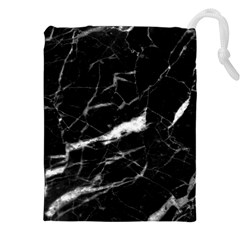 Black Texture Background Stone Drawstring Pouches (xxl)