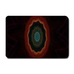 Cosmic Eye Kaleidoscope Art Pattern Small Doormat