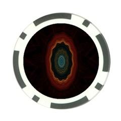 Cosmic Eye Kaleidoscope Art Pattern Poker Chip Card Guard