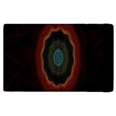 Cosmic Eye Kaleidoscope Art Pattern Apple Ipad 2 Flip Case