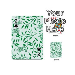 Leaves Foliage Green Wallpaper Playing Cards 54 (mini)