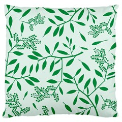 Leaves Foliage Green Wallpaper Large Cushion Case (two Sides)