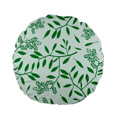 Leaves Foliage Green Wallpaper Standard 15  Premium Round Cushions